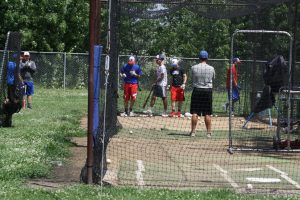 Central High School Batting Practice